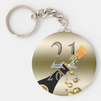 Goldsilber des Gewohnheits-21. Schlüsselanhänger
