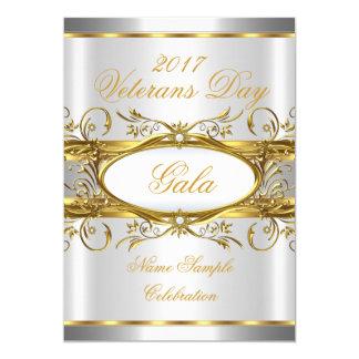 Goldsilbernes Weiß und Goldplaketten-Party 12,7 X 17,8 Cm Einladungskarte