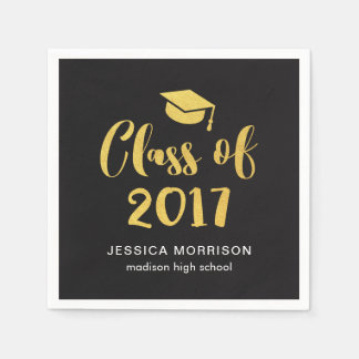 Goldskript-Klasse von Abschluss-Party 2017 Papierserviette