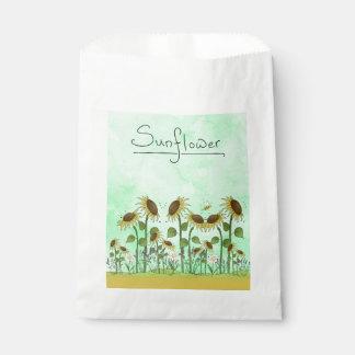 Goldsommer-Sonnenblume-Illustration auf tadellosem Geschenktütchen
