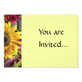 Goldsonnenblume-Einladung 12,7 X 17,8 Cm Einladungskarte