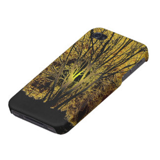 Goldsonnenuntergang-Baums iPhone 4/4S Cover