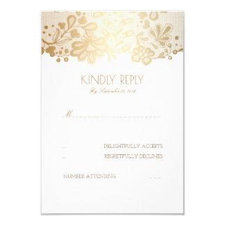 Goldspitze-elegante Hochzeit UAWG Karten 8,9 X 12,7 Cm Einladungskarte