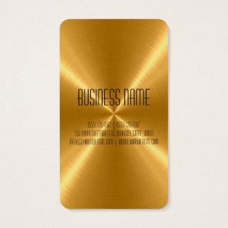 Goldstahl-Metall Visitenkarte