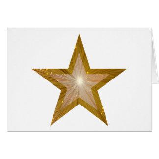Goldstern-Grußkartenweiß Karte