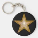 Goldstern keychain Schwarzes Schlüsselanhänger