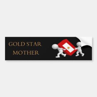 Goldstern-Mutter Autoaufkleber