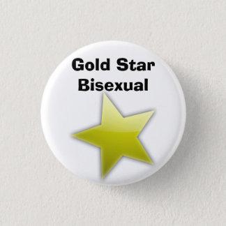 Goldsternbisexual-Abzeichen Runder Button 3,2 Cm