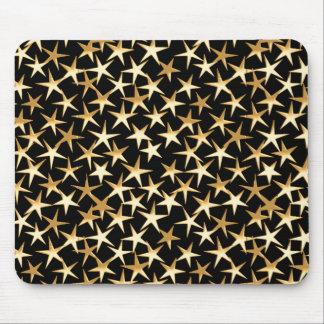 Goldsterne auf einem schwarzen Hintergrund Mousepad