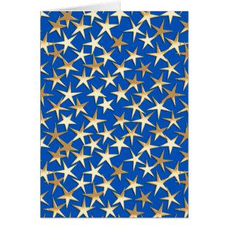 Goldsterne auf Kobaltblau Karte