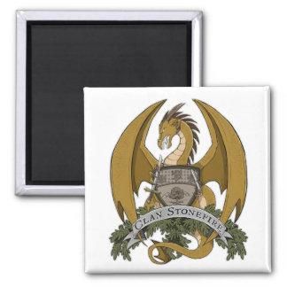 GoldStonefire Drache-Wappen-Magnet Quadratischer Magnet