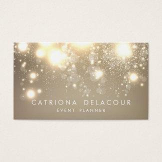 Goldsubtile Glitter Bokeh Geschäfts-Karte Visitenkarten