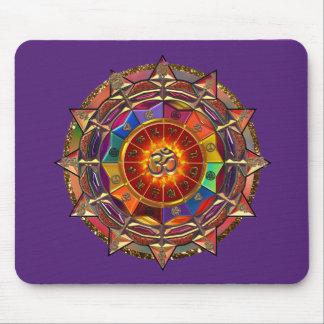 Goldsymbolische Sun-Mandala Mauspads