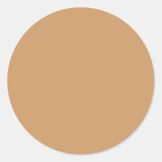 Goldtan-Farbe Runder Aufkleber