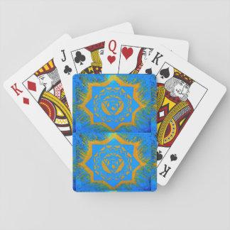 Goldtantric Sterne auf Blau Spielkarten