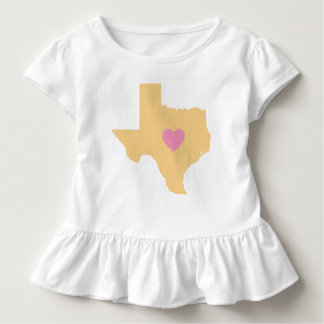 Goldtexas-Staat mit rosa Herz-T - Shirt