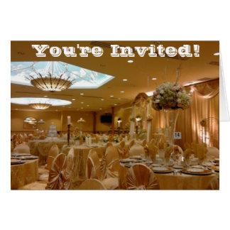 Goldthemenorientierte Hochzeits-Einladung Karte