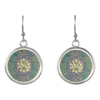Goldtierkreis-Zeichen-Wassermann-Mandala Ohrringe