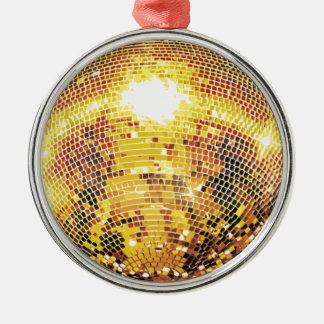 Goldtone Disco-Ball Silbernes Ornament