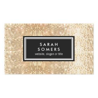 GoldTrendy Spaß IMITAT Sequin-Schönheits-Salon Visitenkarten
