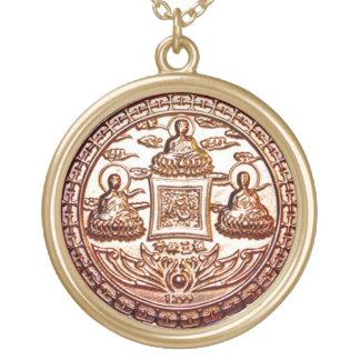 GoldTrikaya Buddha Wunder-Talisman Vergoldete Kette