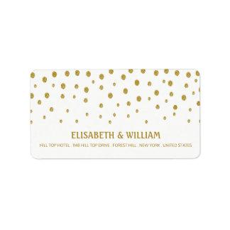 GoldTupfen-Hochzeit Adressaufkleber