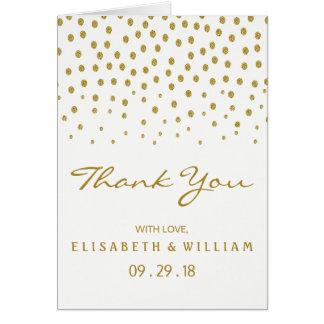 GoldTupfen-Hochzeit danken Ihnen Karte