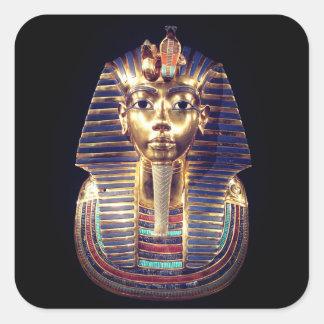 GoldTutankhamun Pharao-Totenmaske-Aufkleber Quadratischer Aufkleber