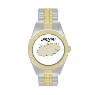 "Golduhr mit ""amen"" Logo Uhren"
