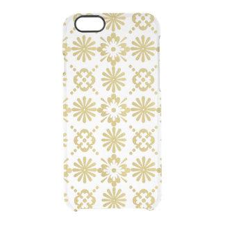 Goldviktorianisches inspiriertes Muster Durchsichtige iPhone 6/6S Hülle