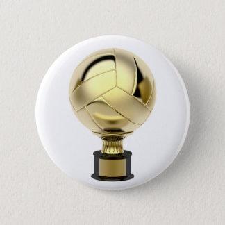 GoldVolleyballtrophäe Runder Button 5,7 Cm