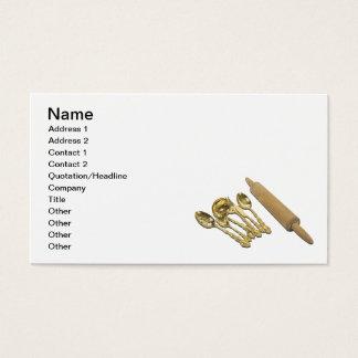 Goldwaren und Rollen-Button Visitenkarte