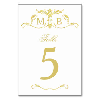Goldwedding Tischnummer-Tischnummerkarten Karte
