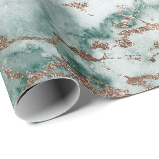 Goldweiße Cali tiefgrüne Marmorstein-Bürsten Geschenkpapierrolle