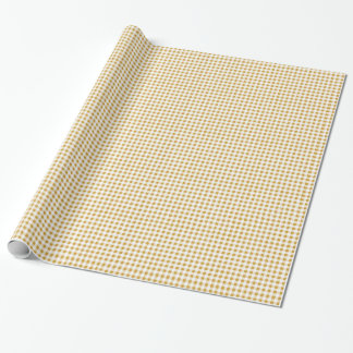 Goldweißes Gingham-Muster Geschenkpapier