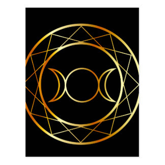 GoldWiccan Symbol Dreiergruppen-Göttin Postkarte