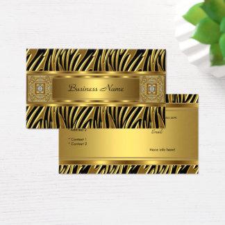 Goldwildes Zebra-Schwarz-Juwel-Blick-Bild Visitenkarte