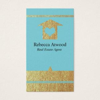 Goldwirkliche Anwesen-Agent-Geschäfts-Karten Visitenkarte
