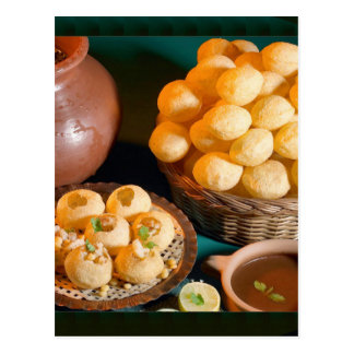 GOLE GAPPAY Panni Puri indischer Küche-Imbiss Postkarte