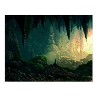 Golem in der Höhle Postkarte
