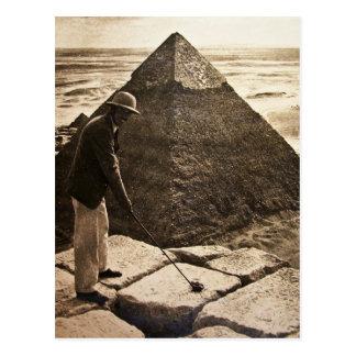 Golf am PyramideSepia getont Postkarte