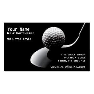 Golf-Anweisung Visitenkarten