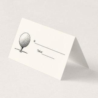 Golf-Ball auf T-Stück Platzkarte