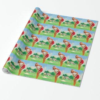 Golf-Button oben Geschenkpapier