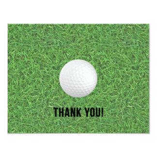 Golf danken Ihnen Postkarte Karte