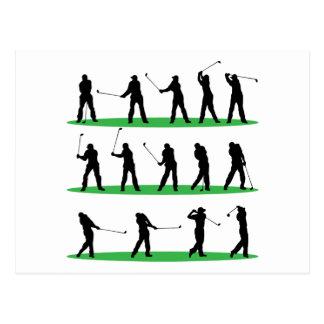Golf, das Reihenfolge fährt Postkarte