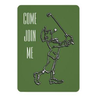 Golf-Geburtstags-Party Einladung