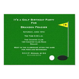 Golf-Geburtstags-Party Einladungs-18. Golf-Loch 12,7 X 17,8 Cm Einladungskarte