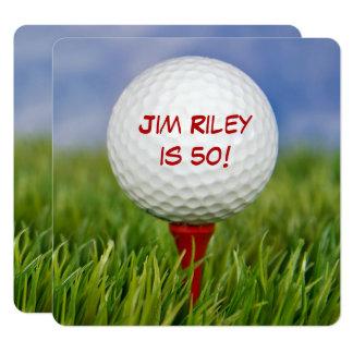 Golf-Geburtstags-Party laden ein Karte