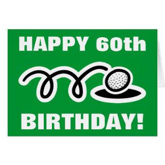 Golf-Geburtstagskarte | kundengerecht Karte